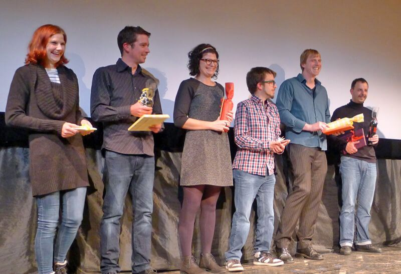 Von links: Patricia Frühholz, Nikias Wacker, Sarah Knoll, Manuel Pfost, Andreas Nissel, Stefan Dörle