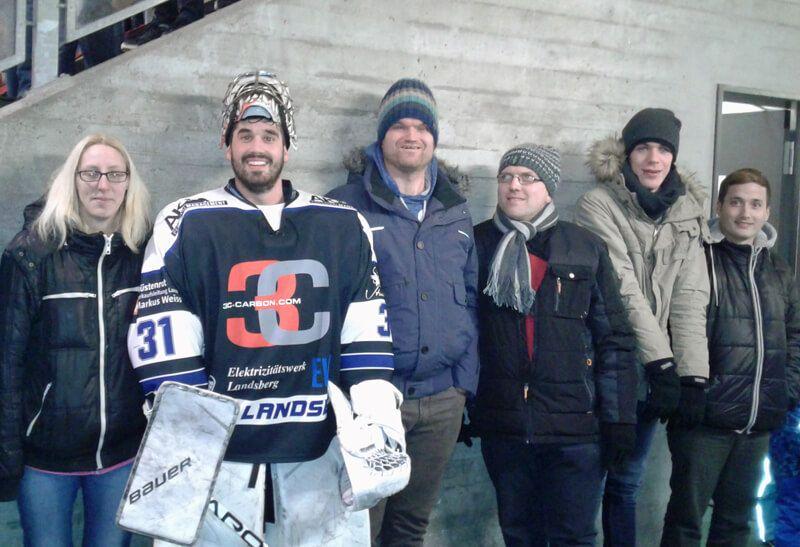 Besuch beim Eishockeyspiel HC Landsberg gegen ECDC Memmingen