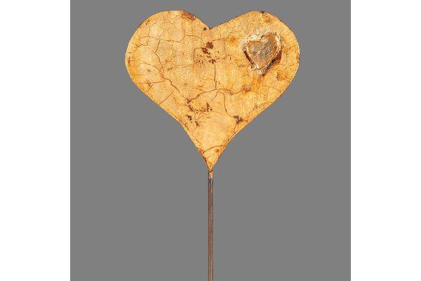 Herzstab aus der Gold-Edition der Metall-Deko, hergestellt in den Magnus-Werkstätten von Regens Wagner Holzhausen