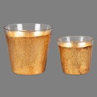 Teelicht-Gläser aus der Gold-Edition der Metall-Deko, hergestellt in den Magnus-Werkstätten von Regens Wagner Holzhausen