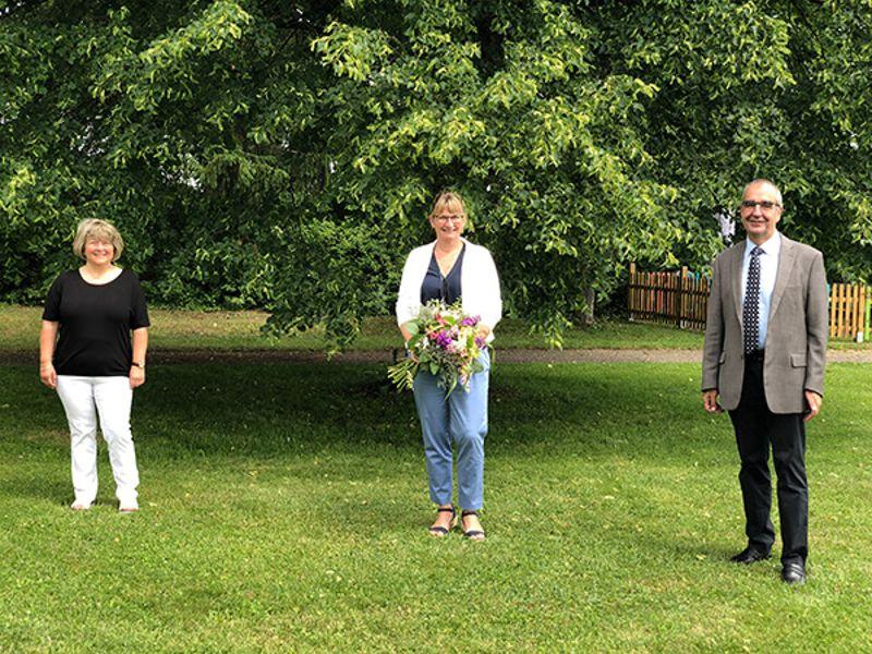 Stellvertretende Gesamtleitung Gabriele Kirschner, Simone Carl und Direktor Rainer Remmele (von links)